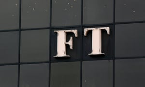 The Financial Times logo on its headquarters in London. Its new owner Japan's Nikkei has said the paper's independence will be guaranteed.
