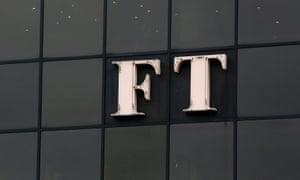 The company logo on the Financial Times' building