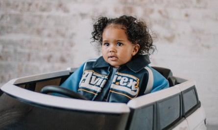 Toddler in fancy jacket