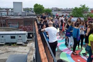 The annual Bushwick Open Studios event in Brooklyn, New York.