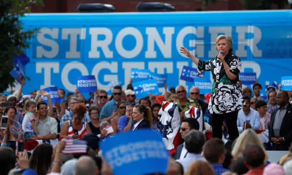 Hillary Clinton speaks in Columbus, Ohio, July 2016