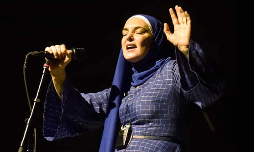 Sinead O'Connor performing in California, 7 February 2020.