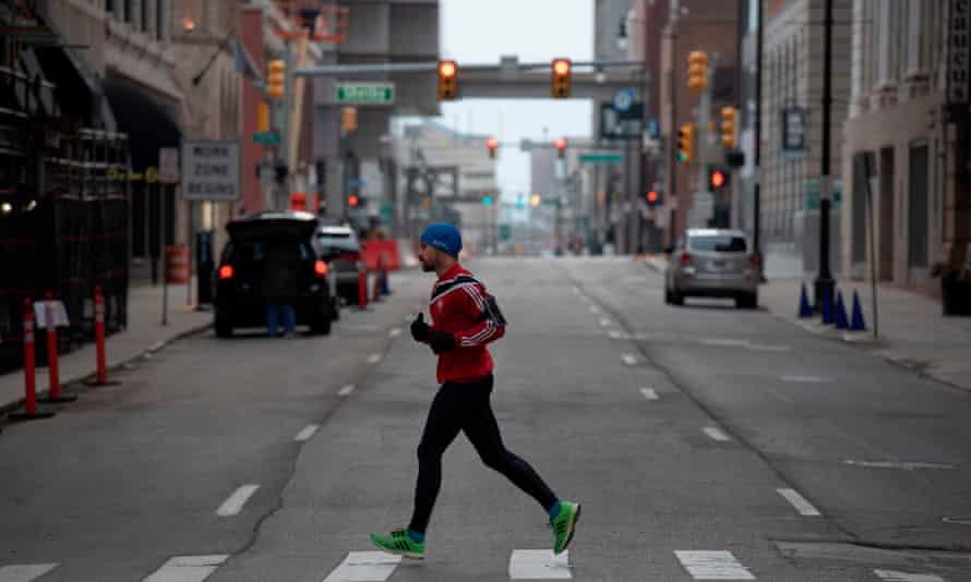 Downtown Detroit last week.