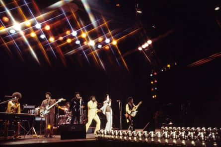 The Isley Brothers in concert in 1974.