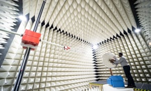 A 5G antenna is tested in a special measuring room at in Regensburg, Bavaria.