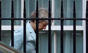 Theresa May arrives at Downing Street, 21 September 2018