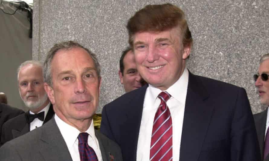 Michael Bloomberg and Donald Trump in New York, New York, on 20 May 2003.