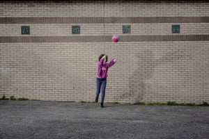 Game of soccer against a brick wall in Prospect Park in Brooklyn, New York on April 25th. Photo by Jordan Gale