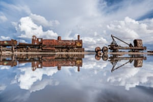 An antique train cemetery just outside Uyuni. The railway was built towards the end of 19th century and mainly used by mining companies until its collapse in the 1940s