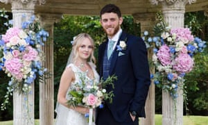Andrew Harper and his wife, Lissie, at their wedding four weeks ago in Oxfordshire.