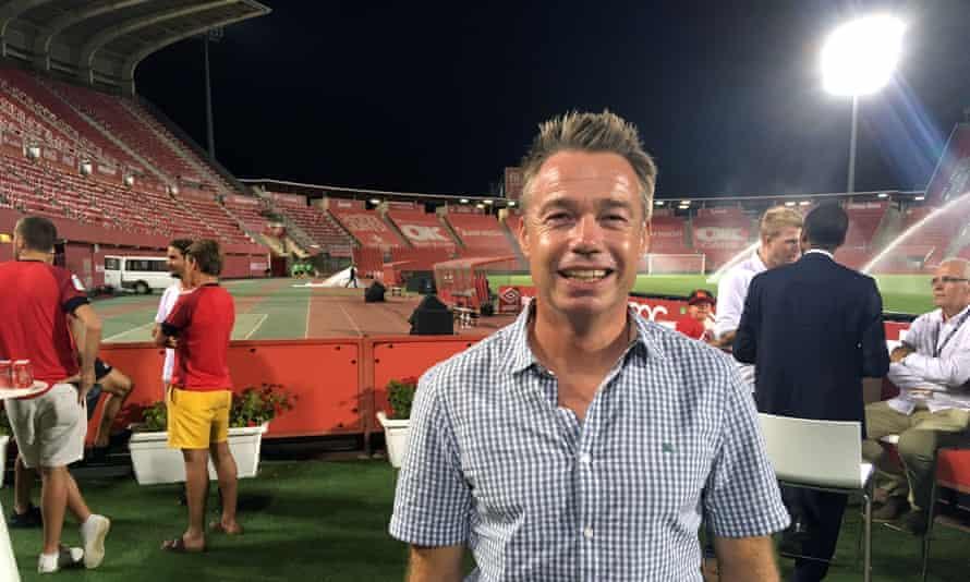 Graeme Le Saux at Real Mallorca's home ground Son Moix.