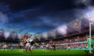 An artist's impression, released by the London Legacy Development Corporation, depicting the Olympic Stadium following its takeover by West Ham United.