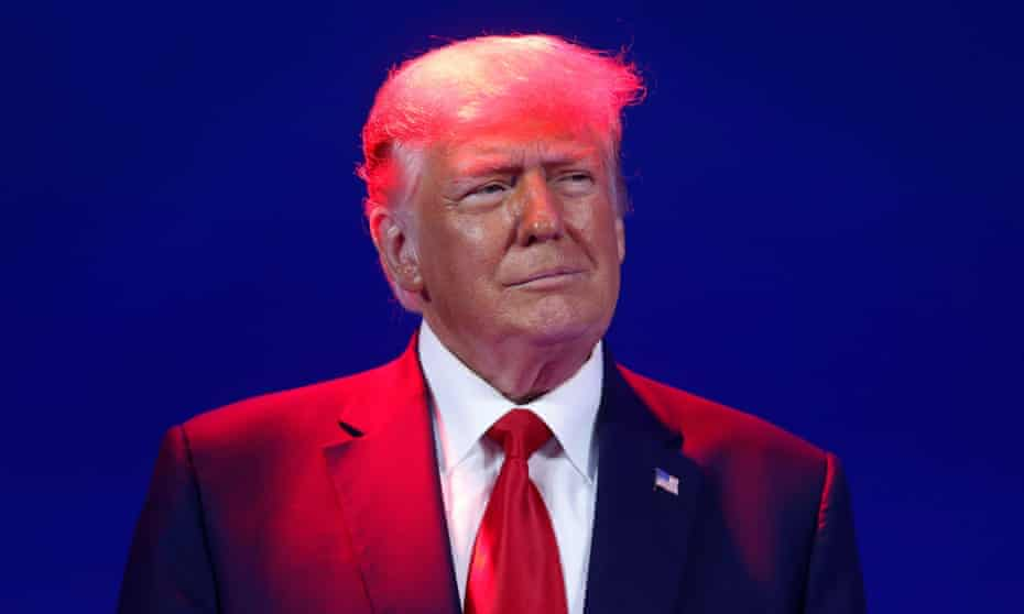 Donald Trump at CPAC in Florida in February. Experts said legal actions against Trump might not pose problems if his loyalists stick with him.