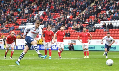 Preston go top of Championship as Paul Gallagher penalty sinks Charlton
