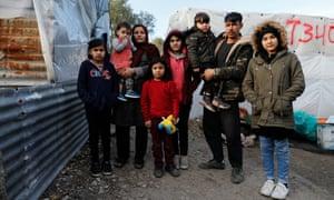 Feruze, 34, her husband Jarwad and their children