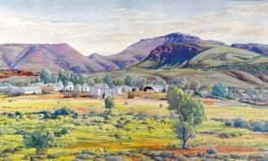 Albert Namatjira's Finke River Mission and Mount Hermannsburg sold for $122,000.
