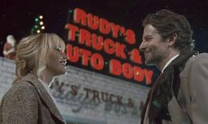 Keeping it unreal … Jennifer Lawrence and Bradley Cooper in Joy.