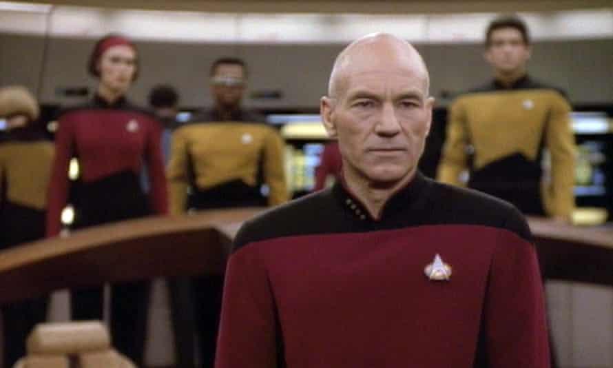 Patrick Stewart as Captain Jean-Luc Picard in Star Trek: The Next Generation.