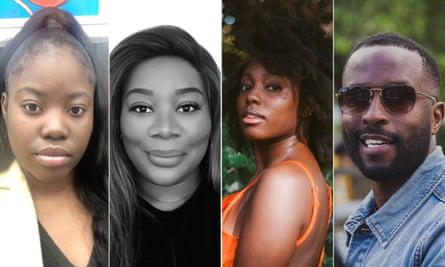 'We don't want to be tokens' ... from left, Carissa Jumu, Vivian Eguridu, Rochelle Newman and Muchengeti Madhovi.