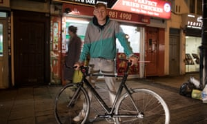 Ben Geraghty, who works as a Deliveroo driver, was happy about the increase in the tax-free personal allowance