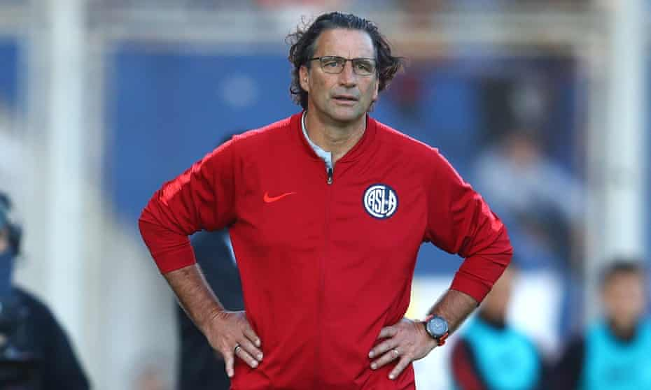 Juan Antonio Pizzi pictured in October 2019 during a spell as coach of San Lorenzo in Argentina.