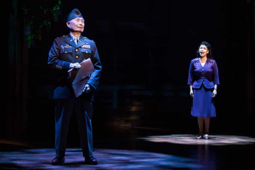 Lea Salonga and George Takei in Allegiance.