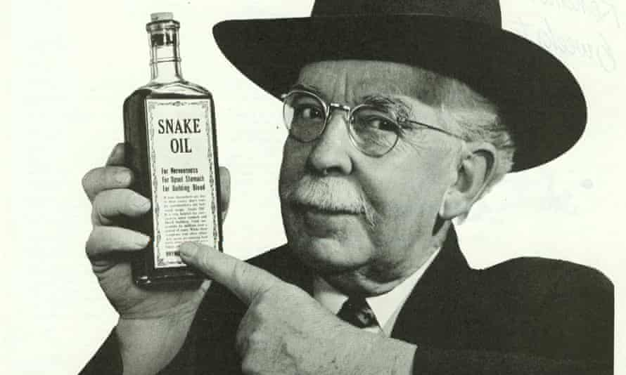 The most compelling hoaxes start with a nugget of truth … an advertisement for snake oil from the 1940s.