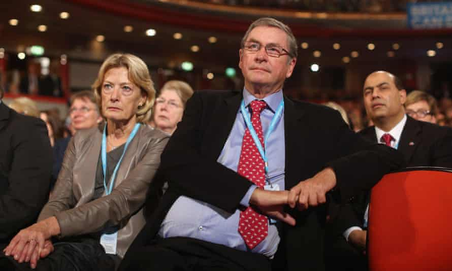 Ashcroft at the Conservative party conference