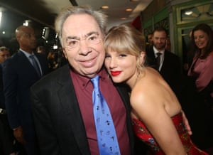 Composer Andrew Lloyd Webber with Swift.