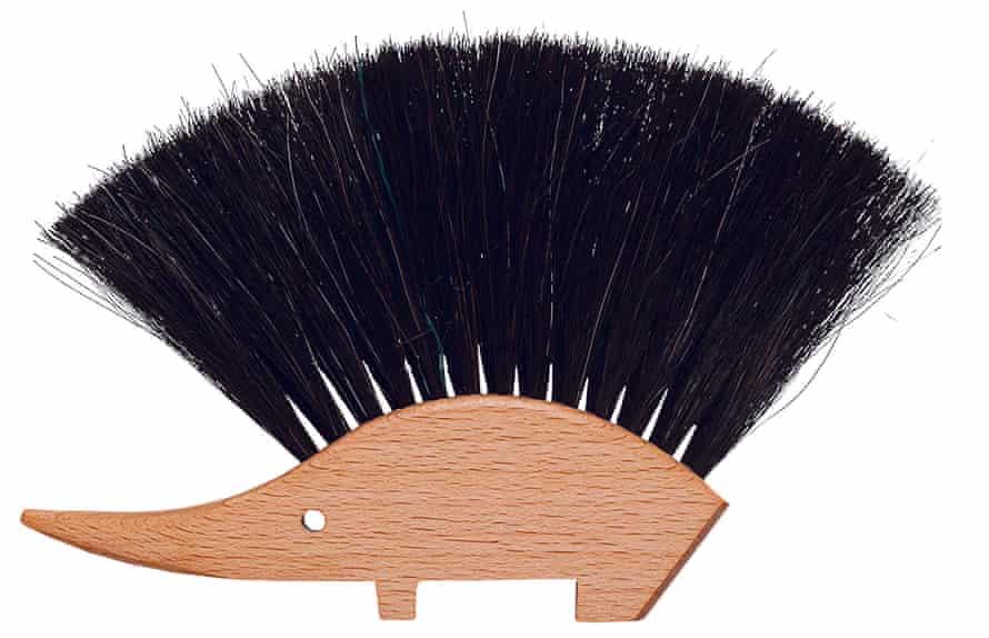 Redecker hedgehog wooden table brush