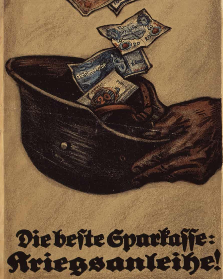 A poster from 1917-18 encourages people to invest in war bonds.
