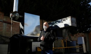 Carlos Ayo, the engineer who invented the mobile crematorium.