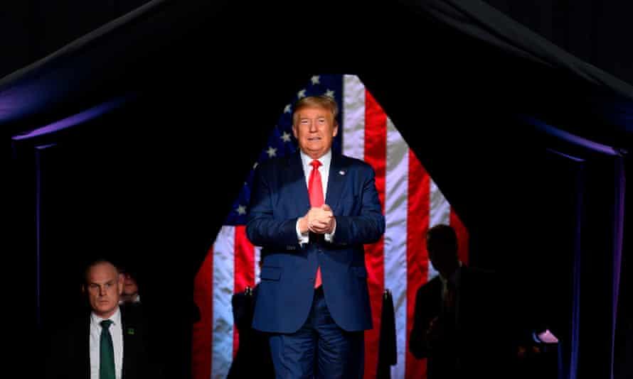 Donald Trump at a rally in Phoenix, Arizona on 19 February 2020.