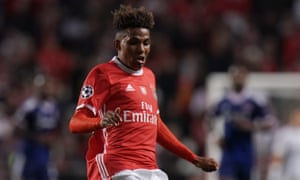 Gedson Fernandes in action for Benfica this season.