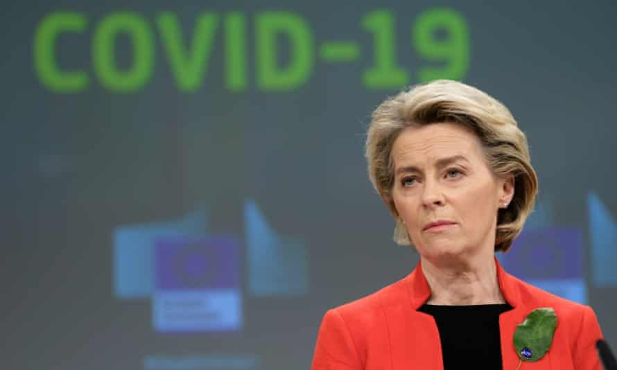 European commission president Ursula von der Leyen issued a veiled threat to the UK's vaccination programme last week.