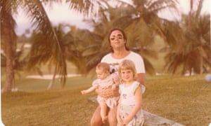Gavanndra Hodge, right, with her sister, Candy, and father in Jamaica.