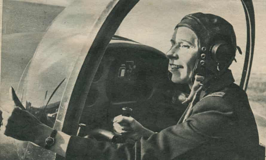 Mary Ellis in the cockpit during the second world war