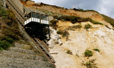 The landslide in Bournemouth demolished a toilet block as well as the East Cliff lift.