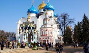 The Trinity Lavra of St Sergius (or Troitse-Sergieva Lavra), Sergiyev Posad, Russia.