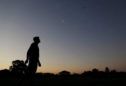 Afghan asylum seeker Farid in a park next to his house in western Sydney