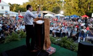 Buttigieg at the 2019 presidential Galivants Ferry Stump Meeting in Galivants Ferry, South Carolina.