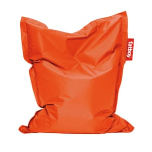 Orange beanbag by Fatboy from Aria