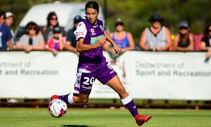 Sam Kerr in action for Perth Glory