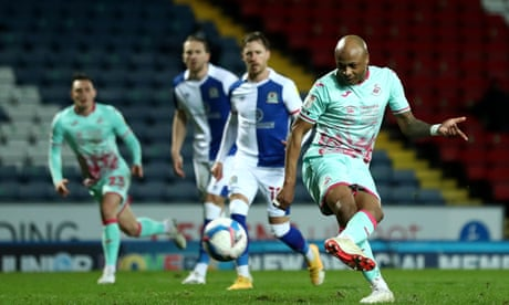 EFL roundup: Ayew on spot again as Swansea stumble to draw at Blackburn