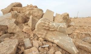 Broken stone remains