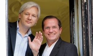 Julian Assange and Ricardo Patiño
