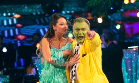What a Carrey-on! Katya Jones and Ed Balls on Strictly Come Dancing.