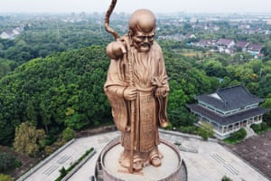 Rugao, China: The 49-metre-tall bronze statue of the god of longevity. The city is renowned for the long lives of its residents