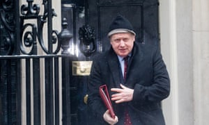 Boris Johnson leaving Number 10 yesterday after the cabinet meeting held to discuss May's speech.