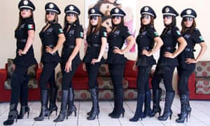Mexican police women in Aguascalientes